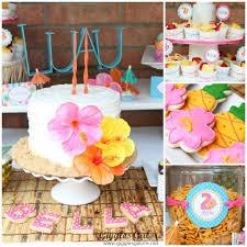 Luau Cake Decorations Luau Birthday Party