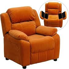 recliner covers with pockets homcom brown sofa lying kids recliner