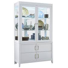 samuel lawrence 8673 141 8673 142 brighton china cabinet in white