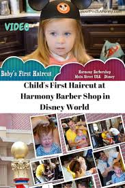 first haircut at harmony barbershop in disney world barbershop