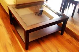 best wood for coffee table great the best square coffee table with glass top storage within