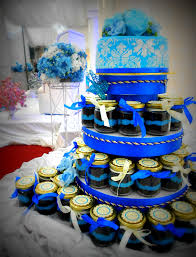 wedding cake jars wedding cake sundae jars in royal blue 3 tiers artistique cakes