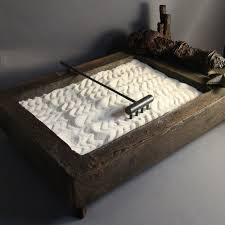 Tabletop Rock Garden My Mini Zen Garden Made With Sand And Objects Personally Found By