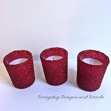 24 burgundy votive candles candle holders wedding