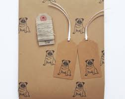 pug wrapping paper pug wrapping paper etsy