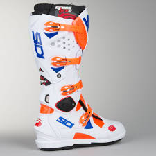 sidi motocross boots review sidi crossfire 2 srs motocross boots orange fluorescent white blue