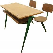 bureau prouvé vintage two seater desk model 850 jean prouvé 1950s design market