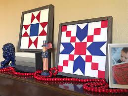 Patriotic Home Decorations Patriotic Home Decor Barn Quilt Blocks U2013 Two Ways