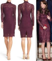 papell lace dress dresses what kate wore