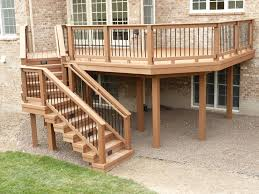 wood deck with composite railing also view in south barrington il
