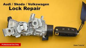 audi skoda volkswagen lock repair youtube