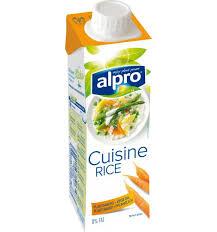 rice cuisine rein pflanzliche sahnealternative reis kochcrème cuisine alpro