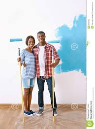 Painting House by Painting House Couple Stock Photo Image 55066935