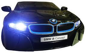 Bmw I8 Black - licensed bmw i8 concept black new design 12v twin motors kids ride