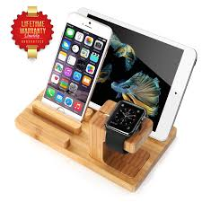 amazon com aerb bamboo wood charge dock holder for apple watch