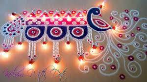 beautiful rangoli decoration and designs with colours easy