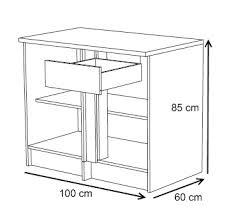 meuble bas cuisine 100 cm meuble bas pour cuisine meuble de cuisine pour four avec 1 tiroir