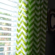 Green And White Curtains Decor Wall Decor Interior Decoration Green And White Chevron Curtains