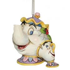 disney traditions mrs potts chip hanging ornament the