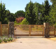 wooden entrance gates 13 in california by prowell woodworks