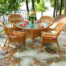 Glass Patio Furniture by Shop Tortuga Outdoor Portside 5 Piece Southwest Amber Glass Patio