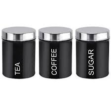 black canister sets for kitchen best 25 tea coffee sugar canisters ideas on tea and