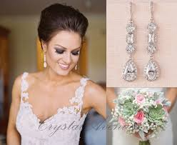 earrings wedding bridal party zirconia earrings awesome bridal