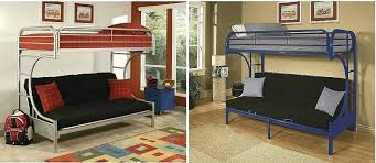 Bunk Bed With Futon On Bottom Bunk Beds With Futons Info Features Dimensions Industrial Style