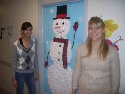 snowman door decorations deck the halls unc residence