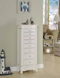 Living Room Armoire Furniture Mesmerizing White Jewelry Armoire With Elegant Shaped