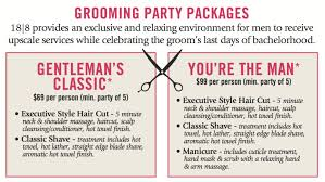 groom u0026 bachelor party packages men u0027s haircuts 18 8