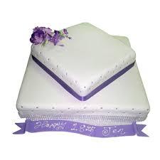 2 tier purple square cake just cakes