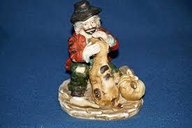 ucgc vintage porcelain hobo clown with dog umbrella bottle
