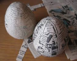 paper easter eggs how to make paper mache easter eggs stuff paper