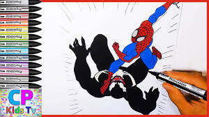 spiderman vs venom coloring pages for kids part 60 spiderman