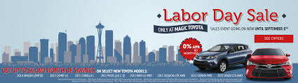 toyota financial 2015 toyota labor day sales event magic toyota