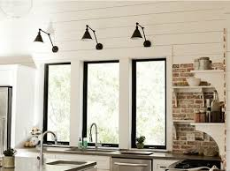 Wall Lights For Kitchen Kitchen Ideas Black Windows Steel Fresh Kitchen Wall Lights