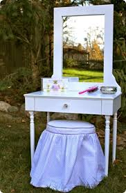 elena vanity stool diy girls play vanity with mirror