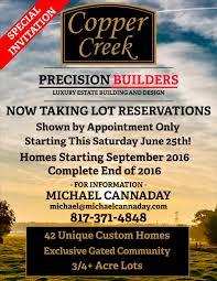 copper creek subdivision update u2014 precision builders custom homes