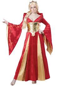 womens red medieval queen halloween costume walmart com