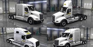 volvo heavy truck j b hunt peterbilt u0026 volvo skins mod american truck simulator