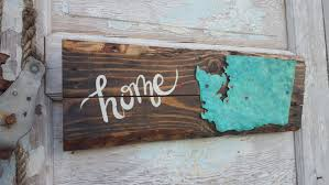 home state sign plank style state sign wood signs rustic home