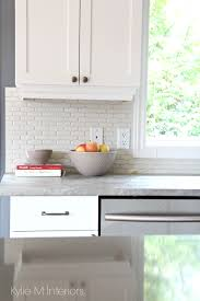shaker maple cabinets painted cloud white with gray and greige