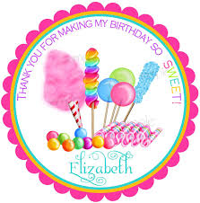 candyland stickers candy circus sweet shop birthday party candy