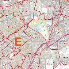 Canterbury England Map by Canterbury Ct Postcode Wall Map Xyz Maps