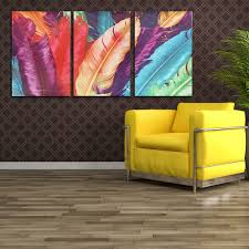 art painting for home decoration 3 cascade huge modern abstract canvas painting decorative wall