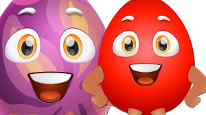 funny colors learn red colour with funny egg surprise red color song chuchutv