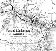 Maps Portland Maine by Historical Railroads In Bartlett New Hampshire