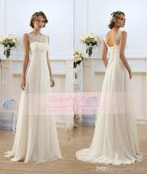 modern wedding dress discount 2017 modern chiffon a line empire high waist wedding