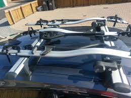 bmw 1 series roof bars f20 f21 bmw 1 series roof bars and 3x bicycle carriers whispbar